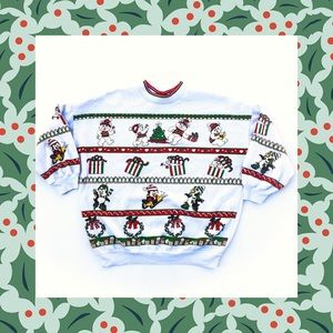 Vintage Bear Ugly Christmas Sweater Women's Large